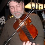 Glenn Carson (Mech. PA). I believe the smile says it all. Extremely happy with my new 5-String fiddle! Glenn is a fine fiddler and took this instrument through it's paces, pressing the instrument into submission. Glenn is also a very fine craftsman and well known banjo maker.