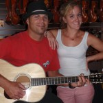 Aaron and Sarah Hershey (Santa Cruz. CA) stopped in for a family visit and to play some Santa Cruz guitars.