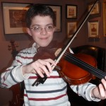 Alex deRamon (Mechanicsburg, PA) recently purchased his first full size violin from us and is quite a technician on the instrument. We're looking forward to his future growth on the violin. Practice, practice, practice!!