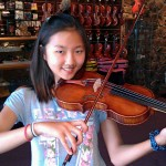 Angela Jung, Mechanicsburg, PA purchases her first full size violin from Hershey Violins. Angela is age 12 and attends the Mechanicsburg Middle School. The future looks great for this young talented musician. Thank you Angela and family for your visit to our shop.
