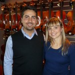 Angelo Monopoli and his wife Andrea Lydzinski of Cento, Italy visited Hershey Violins to talk violin making and techniques. Angelo is in his first year apprenticeship with master maker Benito Tosello where Angelo has finished his first two violins and is continuing his training. Angelo and Andrea enjoyed their visit with us and offered to have us visit Italy as their guest in the future.