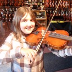 Annelise Natale (Wyckoff, NJ) taking her newly purchased Hershey Violin for a test drive. Annelise recently moved from a 3/4 size violin to a full sized instrument. Enjoy!