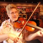 "Annette Kilpatrick (Pennsylvania) recently had work done on her violin. Annette is a member of the group ""Sunshine Serenades"" and Hershey and West Shore Symphonies. She also plays at Dickinson and Franklin & Marshall Colleges. For booking information on the ""Sunshine Serenades"" call 717.921.8330 or 652.8829."