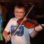 Anthony Fludovich (Mechanicsburg, PA). Anthony and his mother stopped in for a 3/4 size violin outfit. His family recently relocated to Central PA from Florida. Anthony is 11 and attending Mech. Middle School.