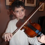 Bradley deRamon (Mechanicsburg,PA) a recent customer with great promice as a concert violinist. Bradley is renting a 1/2 size violin and looking forward to moving up to a 3/4 size soon. Keep up the good work Brad.