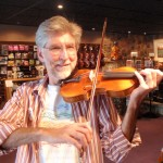 Carl Iba (Harrisburg, PA). Violin soloist, symphony player and teacher, trying out his recently rehaired bow. Carl teaches youth to adult and can be reached for lessons @ 717.545.2117 or by email: ibacarl@gmail.com