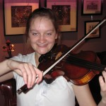 Caitlin Lynch, violinist and instructor playing my #117 Hershey Violin.  Caitlin is a freshman at Messiah College.