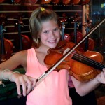 Charolotte Scalese (Mechanicsburg, PA) makes her first full sized violin one of our fine line of student violins. Charlotte is age 11 and attends the Pa. Virtual Charter School. Thank you Charolotte, for visiting our shop.
