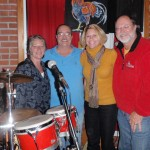 "The Group ""Sea Level"" (Manteo, NC) L-R Delane Evans, Larry Griffin, Deb Hershey & Scott. Our favorite group on the Outer Banks. Playing here at the Full Moon Cafe, Manteo, NC. during ""First Fridays"" and the towns tree lighting evening of fun. Great time for all."