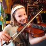 Delaney McCracken (Mechanicsburg, PA). Delaney and her mom stopped in today to purchase her first 1/2 size violin. She and her mom enjoyed the visit and shop atmosphere. Delaney is attending the Hampden Elementary School. Thank you for choosing Hershey Violins.