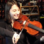 Grace McManus (Bethlehem, PA) Recently purchased one of my hand-made Hershey Violins. Grace plays a variety of styles and is emailing me her contact information for posting here upon receipt.