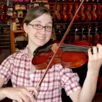 Harmony Niphakis (Dallastown, PA) recently picked out her favorite violin for an udgrade. Harmony is a talented violinist and is studying psychology @ The York College. Thank you Harmony for the visit and instrument purchase.