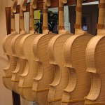 Backs of instruments, awaiting final finishing details.