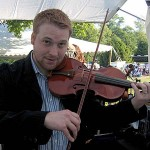 Adam Haynes stopped in for a few adjustments and to try out my instruments at Gettysburg's Bluegrass Festival.  Adam plays fiddle for the James King Band.