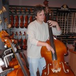 "Jason Hennessey (Camp Hill,PA) a frequent visitor to our Thursday ""Jam Night"", teaching the cellos a few ""cool"" bass moves."