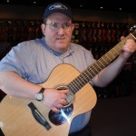 "Joseph Berger (Hagerstown, MD) recently purchased his first Santa Cruz OM Pre-War guitar from us. ""This instrument has its own fantastic voice, great sustain and tone. I love the mahagony used on the back and sides."" Joseph will add this instrument to his growing collection of guitars, each with its own special personality."