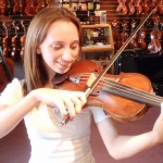 Julia Hoffmann (Mech. PA). In for tone adjustments and a new bow, Julia is now Concertmistress with the Mechanicsburg High School. Congratulations Julia!