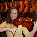 "Julie Brensinger, Mechanicsburg, PA selects #52 as her performance instrument.  Starting  in the fall of 2011 Julie Brensinger will be attending West Virginia University as a violin performance major. She will begin her studies under world-renowned violinist Mikylah Myers Mcteer.  ""I absolutely love my new violin made by Scott Hershey. It has a nice clear and deep tone with a lot of body. The craftsmanship is superb and is definitely of the highest quality. Mr. Hershey truly does incredible work"". - Julie Brensinger"