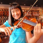 Lily Robinson (Hummelstown.PA). Recently purchased a Hershey Violin, her first full sized violin. She is a fine player and her smile says it all! Lily attends the Derry Township School District.