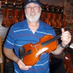 Mike Campbell (Grayson, KY) enjoyed his recent visit and purchase of a Hershey Violin.
