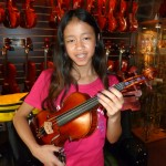 Rachel Levy (Mechanicsburg, PA) Just purchased her new full size violin. Rachel will be attending the 6th grade @ Mech. Middle School this fall. We look forward to seeing her develope into a fine violinist. Thank you Rachel and enjoy your new instrument.