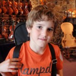 Russell Zimmerman (Mech. PA). Sportin' his first 1/4 size violin and anxious to begin lessons. Russ attends Shaull Elementary.