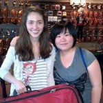 Sarah Pell, York, PA- (Left) is now the proud owner of a Hershey Violin outfit. Sarah is 15 and attends the Dallastown Area H.S. and lives in York,PA. I will have your back-up violin ready to go this Wednesday. Thank you family and Sarah for your visit to our shop.  Seung Ri Cho, York PA -(Right) Thank you Seung for your recent bow purchase and instrument and bow repair work. Seung is 17 and attends Dallastown H.S. Seung, We'll have you up and running by Wednesday.