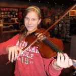 Sarah Hannigan (Mechanicsburg, PA). Sarah attends the Northern Middle School and is a member of the Harrisburg Junior Youth Symphony, first violin section and studies violin with Peter Sirotin. Sarah recently purchased one of our fine bows.