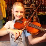 Sarah Swartz (Mechanicsburg,PA). Sarah and her mom recently visited our shop, looking to purchase a larger size violin. Sarah chose a very nice 3/4 size violin, bow and case. Sarah attends Monroe Elementary and is in the 5th grade.
