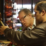 Tony Lucia and Odin Rathnam, inspecting one of my hand-made violins.