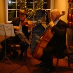 Wyatt True and Andrew Jackson perform for our Holiday Open House.