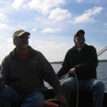 Captain Scottie and Freddie enjoying a great sail.