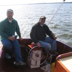 "Brad and Freddie on ""Lucy"" in St. Michaels, MD."