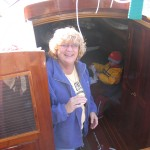 My sister Diane inspecting Lucy's interior.