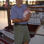 Grandfather and new first mate, Rowan.