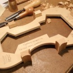 The corner and end blocks have been glued and roughly cut to shape.