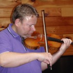 This is Lars Bjornkjaer, concertmaster of the Royal Danish Symphony trying out his Strad after I completed working on it. He was very pleased with the set-up and sound.