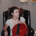 Olivia Pavco-Giaccia running on of my Hershey cellos through its paces.