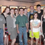 Chamber Music in Grantham students visit Hershey Violins. L-R Greg Glessner, Elizabeth Yanushkevich, Tetyan Pyatovolenko, Olivia Pavco-Giaccia, Greg Glessner, Casey Mason, Scott Hershey, Kiara Rubin, Nicholas Perry, Kaleigh Acord. All stopped in the shop to have various services done to their instruments.