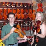 Greg and Kaleigh doing the duet thing on Hershey made violins.