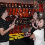 Nick Perry, Kiara Rubin and Kaleigh Acorn enjoying playing a few of my instruments.