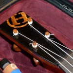"My signiature ""H"" inlaid headstock in ebony."